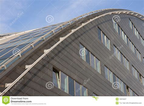 Arched Roof Construction Modern Building With Curved Roof Of Glass Royalty Free