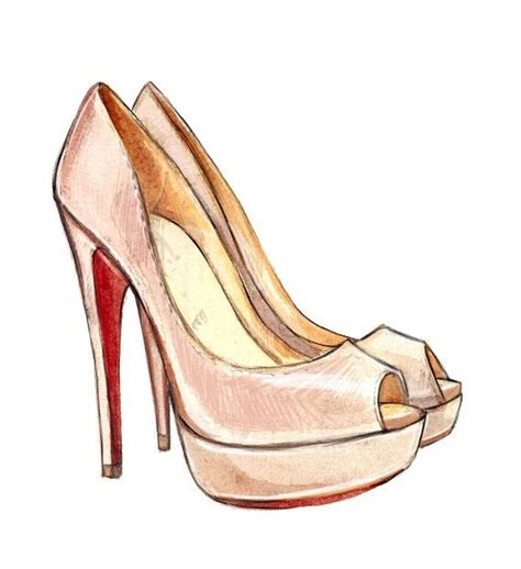 1000 ideas about fashion illustration shoes on