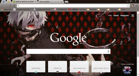 Themes Google Chrome Tokyo Ghoul | tokyo ghoul theme google chrome by alechivis on deviantart