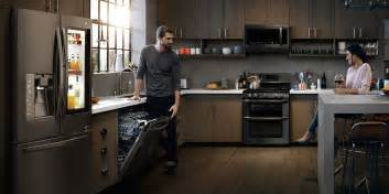 Black Kitchen Cabinets With Stainless Steel Appliances Lg Black Stainless Steel Series Black Stainless Steel