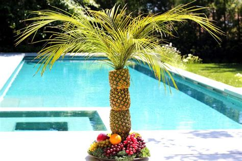 pineapple fruit tree stand how to make a pineapple palm tree for a serving tray ehow