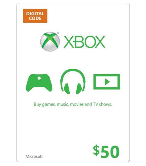 Xbox 360 50 Gift Card - 50 xbox gift card