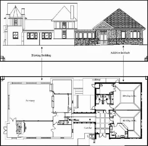 architectural floor plan drawings the building of the addition