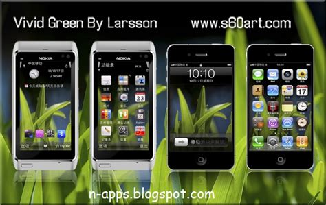 themes download sisx vivid green v1 0 by larsson symbian 3 nokia anna belle