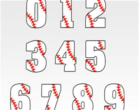baseball numbers svg | etsy