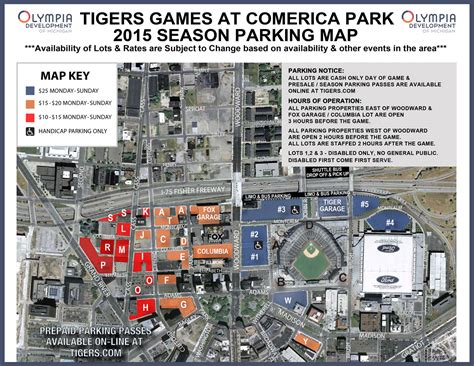 detroit traffic map guide to tigers opening day traffic parking