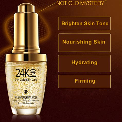 Serum Gold 24k bioaqua serum wajah 24k gold essence 30ml golden