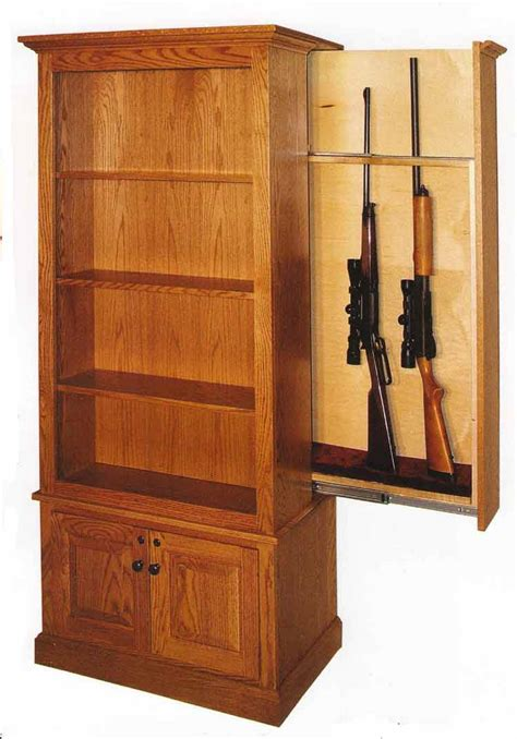 hidden gun cabinet bookcase amish made custom gun cabinets the wood loft amish