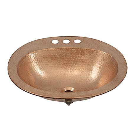drop in bath sink kelvin copper drop in bathroom sink by sinkology