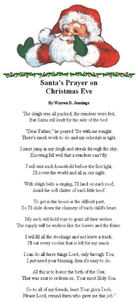 santas prayer  christmas eve christmas prayer christmas poems meaning  christmas