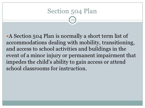 section 504 eligibility 2012 back to school teleconference