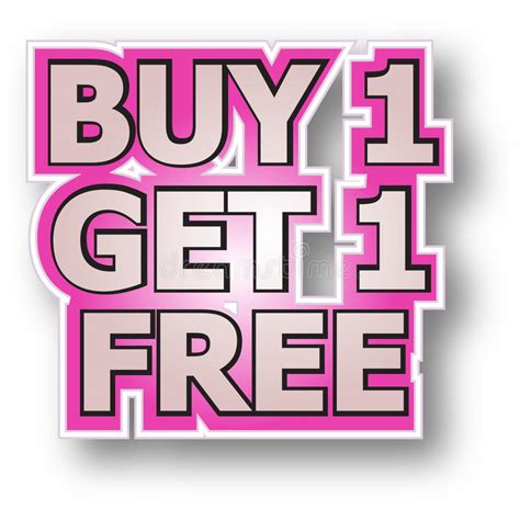 where to buy one buy 1 get 1 free stock vector illustration of promotions