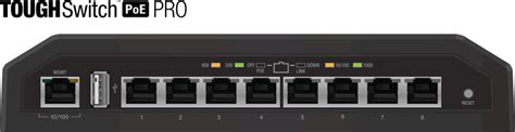 Ubiquity Tough Switch Poe Pro 8port Gigabit Ts 8 Pro Murah ubiquiti toughswitch pro poe 8 port gigabit switch