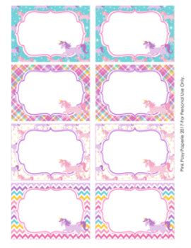 Unicorn Bin Labels Classroom Decor By Pink Posy Paperie Tpt Unicorn Label Template