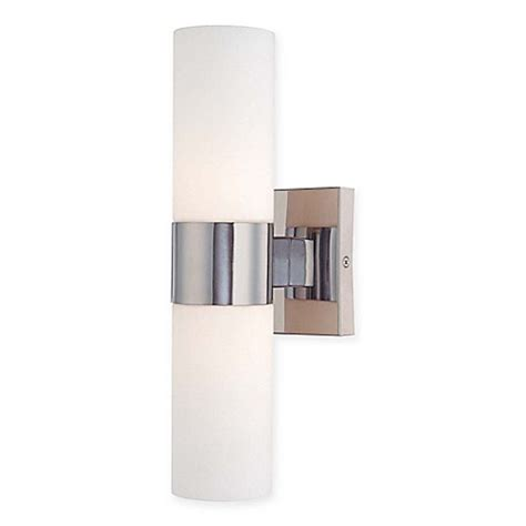 minka lavery 2 light wall sconce in chrome bed bath
