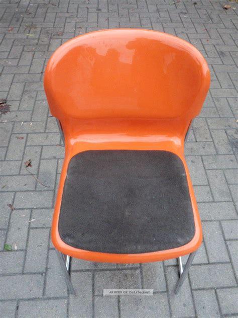 stuhl 70er design stuhl gerd lange design 70er orange st 252 hle stapelbar swing