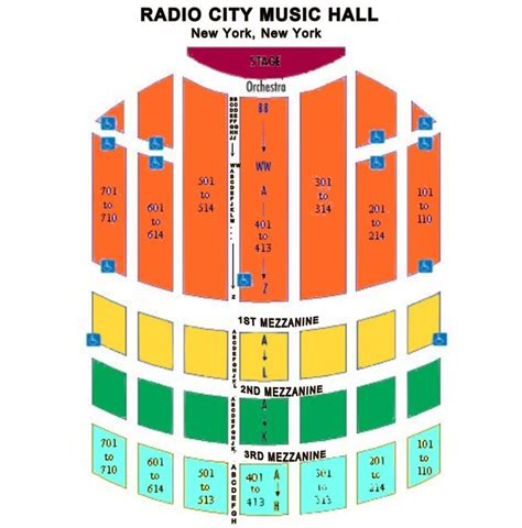 radio city seating plan best seats for spectacular radio city