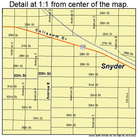 map of snyder texas snyder texas map 4868624