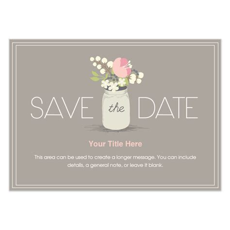 floral jar save the date invitations cards on pingg com