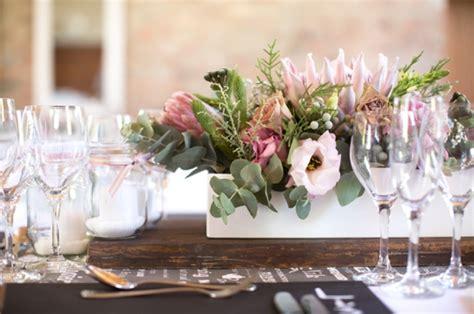 Flower Decorations m amp j022 pink protea wedding catherine mac southboundbride