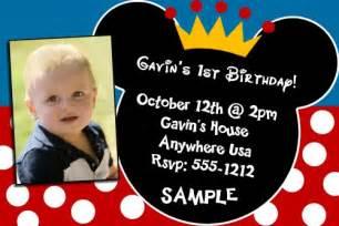 mickey mouse 1st birthday invitations createphotocards4u