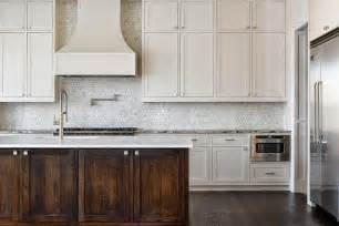 Marble Tile Backsplash Kitchen Kitchen With Marble Hex Tile Backsplash Transitional
