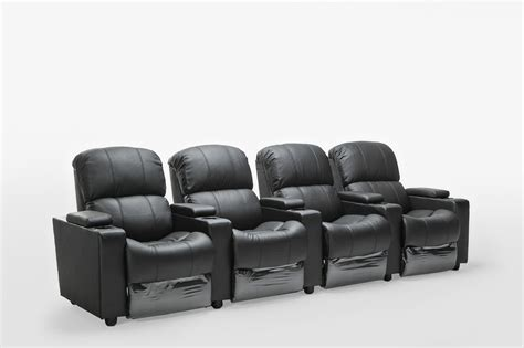 2 seater home theatre recliner sofa sophie black leather 4 seater home theatre recliner lounge