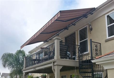 Retractable Fabric Awnings San Diego County Ca Window Sunbrella Patio Covers
