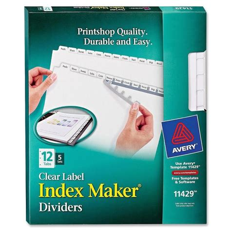 Avery Clear Label Index Maker Template
