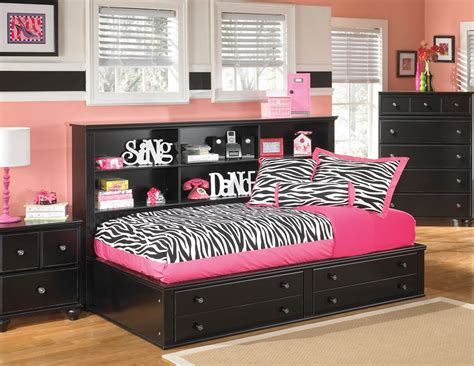 Bookcase Bedroom Set Modern Bedroom With Jaidyn Youth Wood Full Size Bookcase