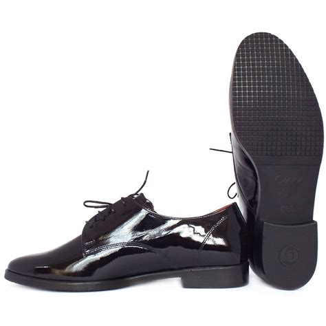 black lace up shoes gabor gondola s smart lace up shoes black patent