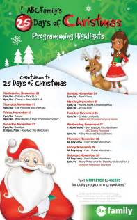 countdown to the 25 days of christmas