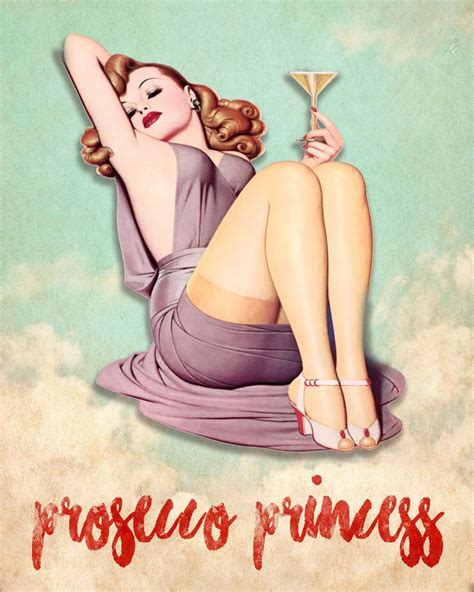pin up girl in bathtub prosecco princess sign text pin up girl in bath metal