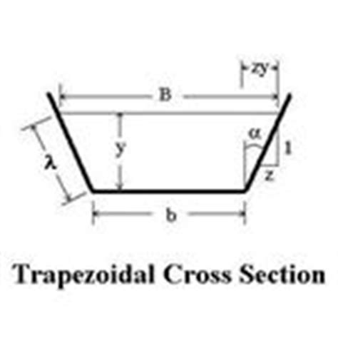 cross sectional area of trapezium calculation of open channel flow hydraulic radius