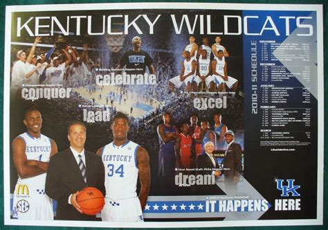 Uk Basketball Schedule Poster | 2010 11 university of kentucky uk wildcats basketball