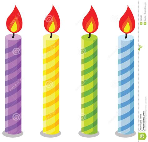 candele on line birthday candles stock vector illustration of line