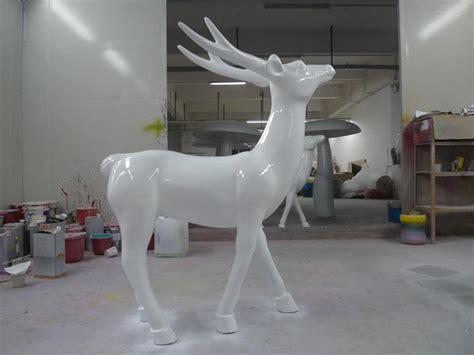 fibreglass christmas reindeer head santas reindeer fiberglass animal sculpture for decoration new year decor