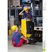 Accident On A Forklift Stock Photo  Image 41733248