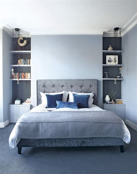 bedroom wall shelves moody interior breathtaking bedrooms in shades of blue