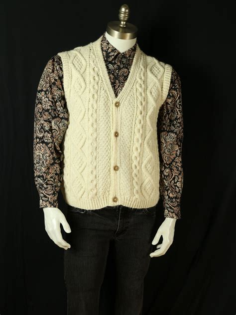 mens cable knit sweater vest mens cable knit sweater vest white fisherman vest