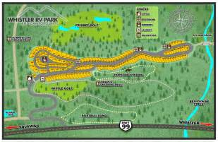 site map whistler rv park and cground whistler bc