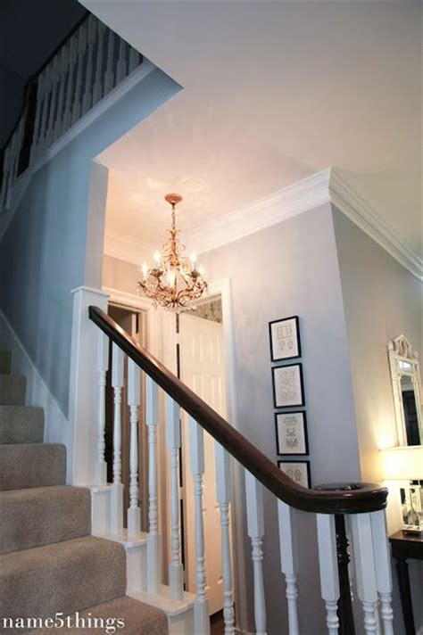 benjamin moore silver chain main hallways  upstairs