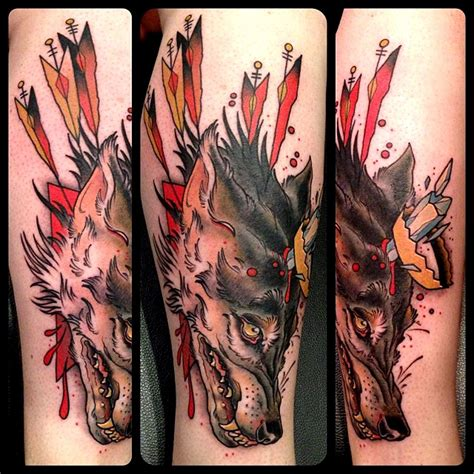 tattoos columbus ohio crown wolf by mike moses at spiritus in