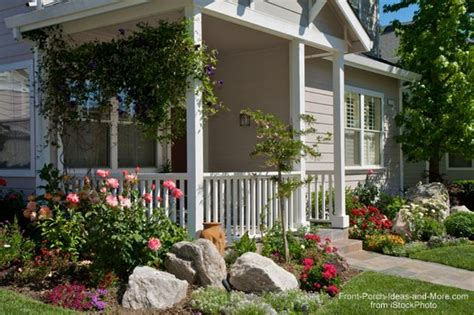 Front porch ideas how about landscaping with rocks