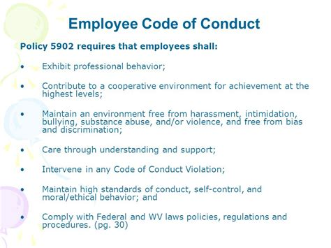 code of conduct for employees bing images