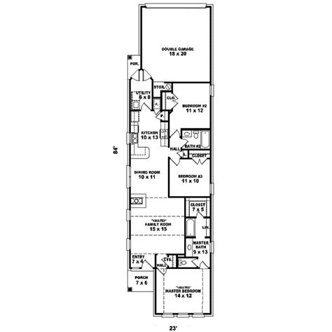 narrow lot ranch house plans rossini narrow lot home plan 087d 1237 house plans and more