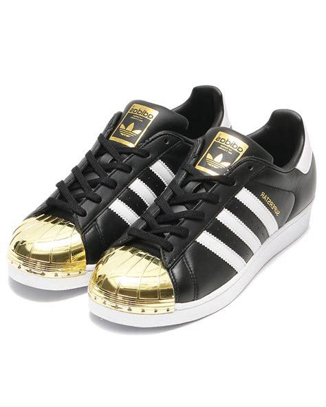 Adidas Superstar White Black Gold adidas superstar metal toe womens black white gold