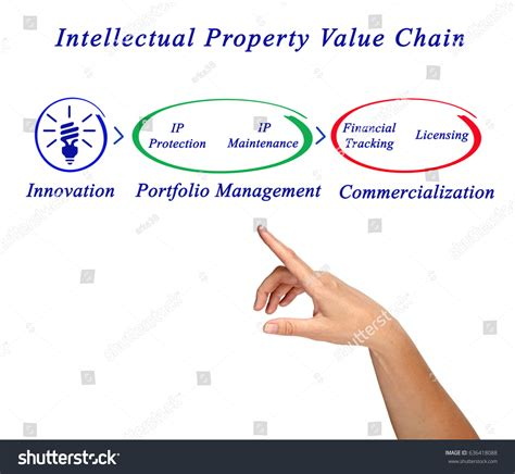 intellectual property value chain stock photo 636418088