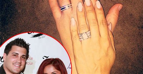 snooki reveals wedding rings has mcdonald s after wedding