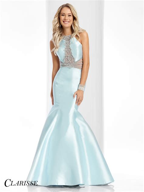 beaded mermaid dress clarisse prom dress 3139 promgirl net